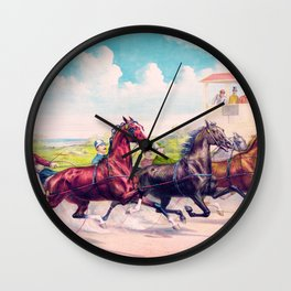 Louis Maurer - Pacing for a grand purse - Digital Remastered Edition Wall Clock