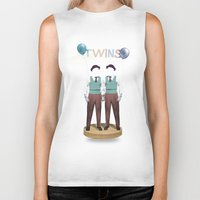 twins Biker Tanks featuring TWINS by Nazario Graziano