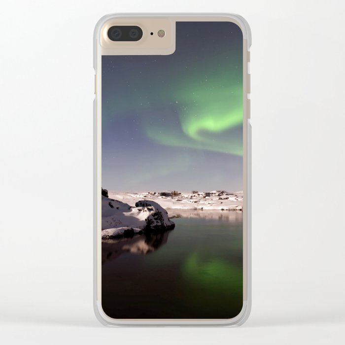 Iceland in Winter Clear iPhone Case