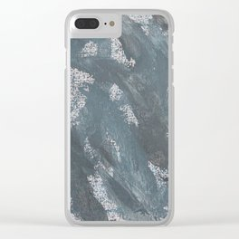 Blue Chalk and Black Ink Clear iPhone Case