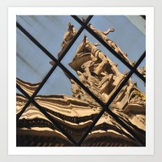 Grand Central Station Facade Reflection Art Print