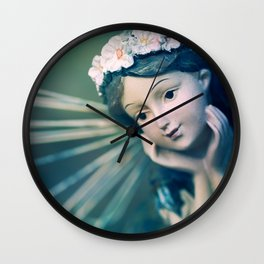 Daydreamer - Fairy Blue Wall Clock
