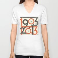 tour de france V-neck T-shirts featuring 100 Years of The Tour de France by Dushan Milic
