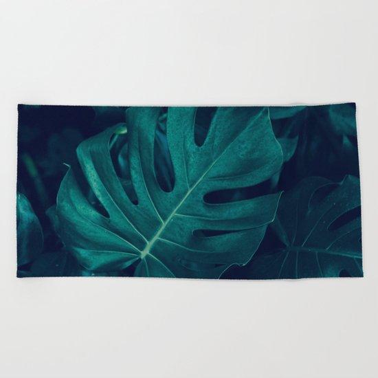 Monstera Garden Beach Towel