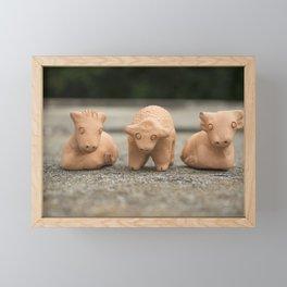 Horse Sheep Cow Framed Mini Art Print