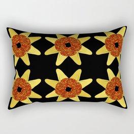 Golden Flower Of Missiles Rectangular Pillow