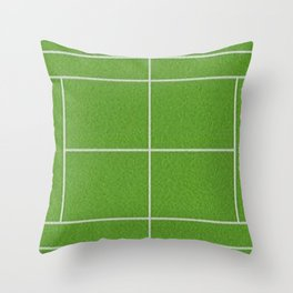Tennis Court Throw Pillow