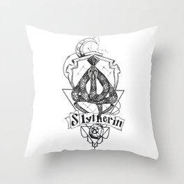 The Cunning House of Slytherin Throw Pillow