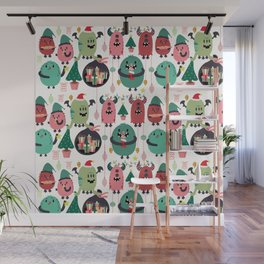 Monster xmas Wall Mural