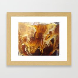Milk in Ice Coffee Framed Art Print