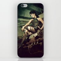 engineer iPhone & iPod Skins featuring Engineer Florence Nephin by Reagan Lam