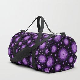 Glowig dark pink mandala Duffle Bag