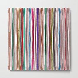 Rainbow Stripes 2 Metal Print