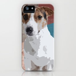 Jack Russel Fashion police. iPhone Case