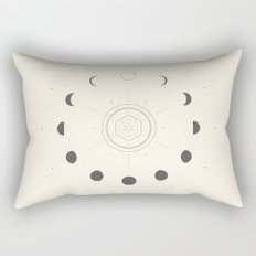 Moon Phases Light Rectangular Pillow