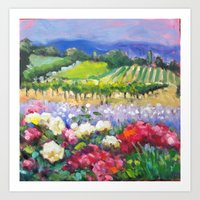 Rose Vineyard Art Print