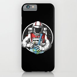 Astronaut Hits Weed Bong iPhone Case