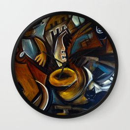 Black Cat Jazz Wall Clock