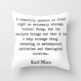 26    Karl Marx Quotes   190817 Throw Pillow