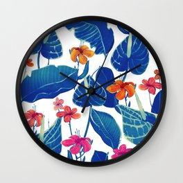 cold flowers Wall Clock