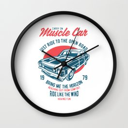 carry on muscle car Wall Clock
