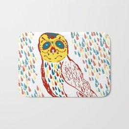 Sugar Skull Owl Bath Mat