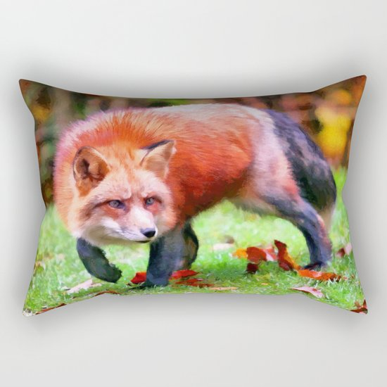Autumn Fox hunting Rectangular Pillow