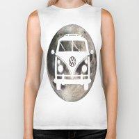 volkswagon Biker Tanks featuring Moon Wagon by Isaak_Rodriguez