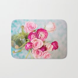 Bunches of Pink II Bath Mat
