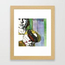 Girl with a Gun Framed Art Print
