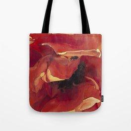 Bug On A Rose - Fire Orange Coral Tote Bag