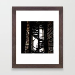 Trinity College Library Spiral Staircase Framed Art Print