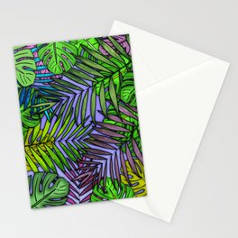 Palm & Monstera Leaves Stationery Cards