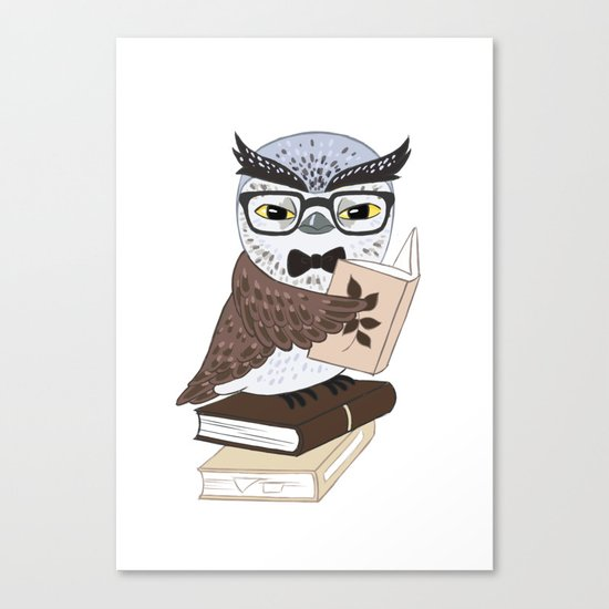 Professor Owl Canvas Print