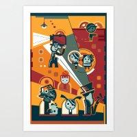 cinema Art Prints featuring Cinema by Petra Stefankova
