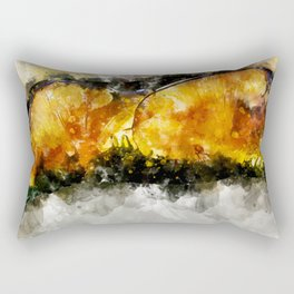 Forest Yellow Mushroom Rectangular Pillow