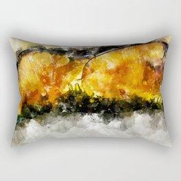 Forest Yellow Mushroom Rectangular Pillow