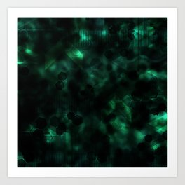 Digital Forest Cool Variant Art Print
