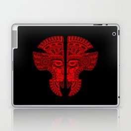 Red and Black Aztec Twins Mask Illusion Laptop & iPad Skin