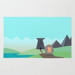 Shining Knights - The Warrior Rug