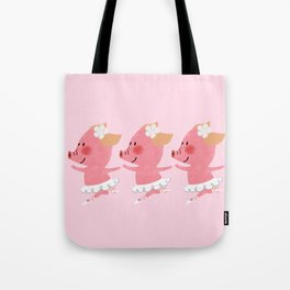 3 Little Piglets Ballerina Tote Bag
