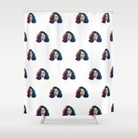 marina Shower Curtains featuring Marina by Cannibal Malabar