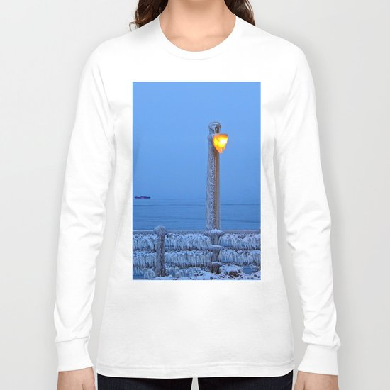 Frosted Light and Ship Long Sleeve T-shirt