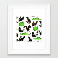 dinosaurs Framed Art Prints featuring dinosaurs by Lara Paulussen