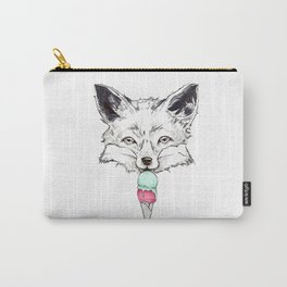 Raspberry Fox Carry-All Pouch
