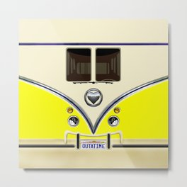 YELLOW minibus lovebug iPhone 4 4s 5 5c 6 7, pillow case, mugs and tshirt Metal Print