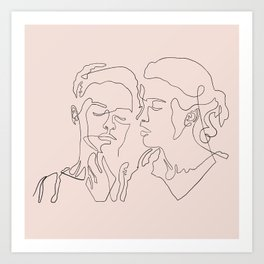 Portrait of a Lady on Fire one line drawing Art Print