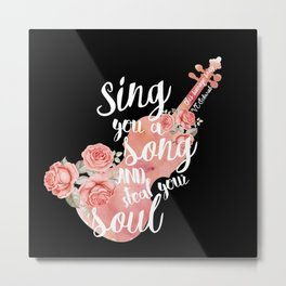 This Savage Song Metal Print
