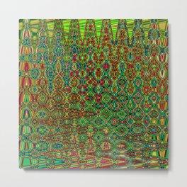 Mosaic Abstract Metal Print