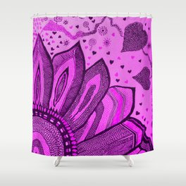 Energy of Pink Shower Curtain